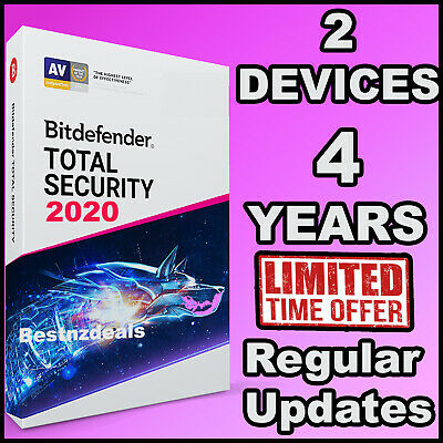 Bitdefender Total Security 2020 - 4 Years For 2 Devices - Download