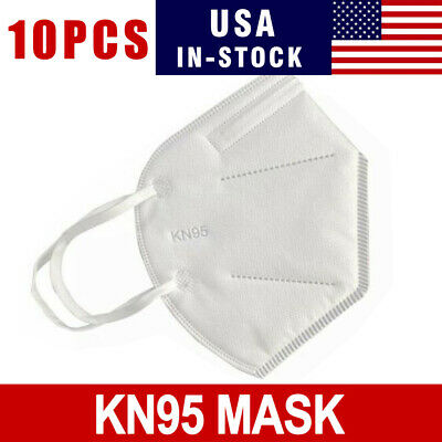 10 PCS KN95 Disposable Face Mask Adult Protective Ear Loop Mouth Cover