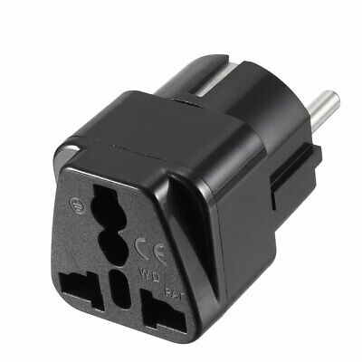 EU Enchufe A Hembra AU US UK EU Enchufe AC Adaptador Corriente Viaje Conversor