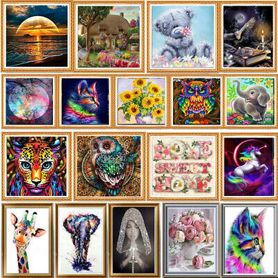 5D Diamond Painting Drill Embroidery Cross Stitch Art Craft Tools Kit Animal UK