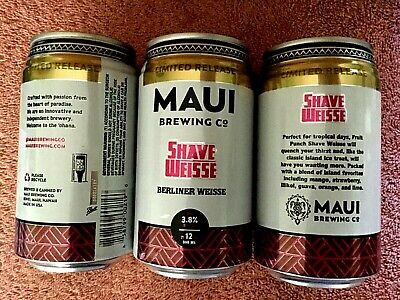 NEW LIMITED RELEASE EMPTY MAUI BREWING SHAVE WEISSE Craft Beer 12 oz Can Hawaii