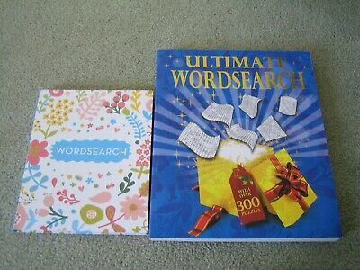 Ultimate wordsearch book and smaller wordsearch book set of 2