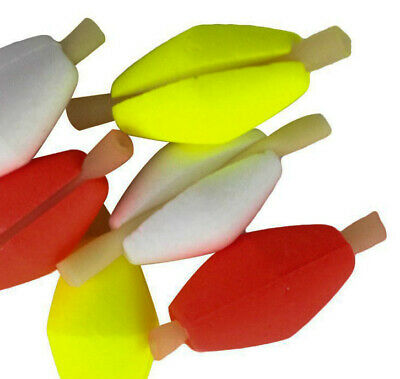 Fly Strike Indicators 8.3mm 10 Pack Fluorescent with 6 Rubber Stoppers Fishing