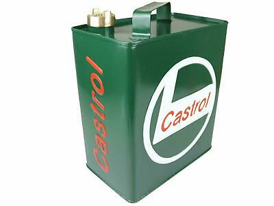 Castrol Logo Iron  Vintage Reto Decorative Petrol Fuel Jerry Can  Mobile Storage
