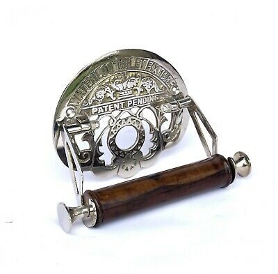 Victorian Water loo Toilet Roll Holder Solid brass with chrome silver finish