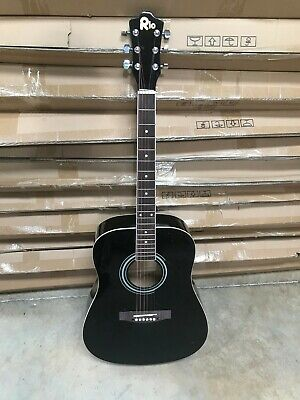 Black 41'' 4/4 Size Beginner Dreadnought Acoustic Guitar