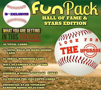 Baseball Card Collection Clean Up MYSTERY FUN-PACK 35 Cards Per Pack HOF EDITION