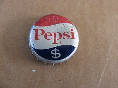 Pepsi Dollar Symbol Ny   Cola  Cork Soda Bottle Cap Vintage Collectible  Money