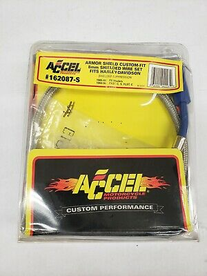 Accel 162087S 8mm Armor Shield Wire Set for Harley Davidson