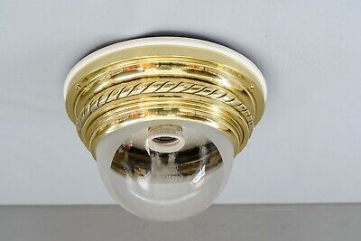 Art Deco Ceiling Lamp with Original Glass Shade, Vienna, circa 1920s