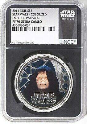 2011 Niue Star Wars Emperor Palpatine 1 Oz. Silver Coin  Ngc Pf70 Ultra Cameo