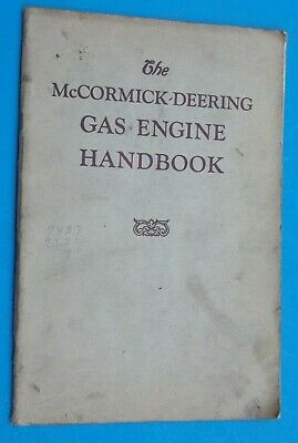 Vintage McCormick-Deering Gas Engine Book Handbook Hit- miss Engine Rare Find