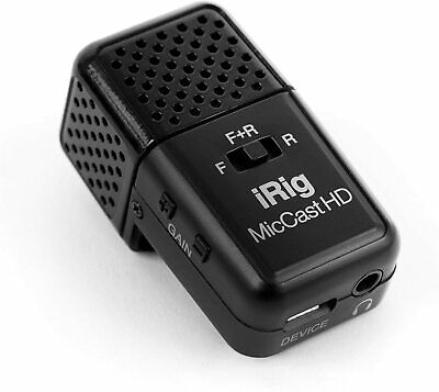 IK Multimedia iRig Mic Cast HD Pocket-Sized Microphone for iPhone, iPad, Android