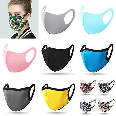 Reusable Women Men Washable Face Cover Mouth Muffle Protective Breathable Uk