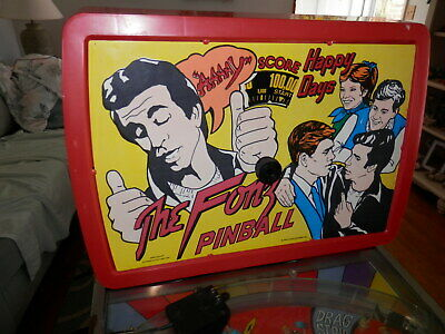 Vintage THE FONZ Pinball  Machine Happy Days It Works  Dated 1976 Coleco