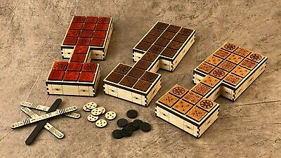 Royal Game of Ur! 20 Squares! Beautiful Craftsmanship! CHOICE OF WOODS! LOOK!