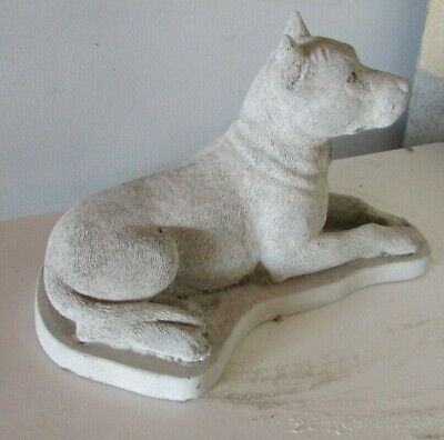 concrete cropped pit bull terrier,statue, memorial or grave marker