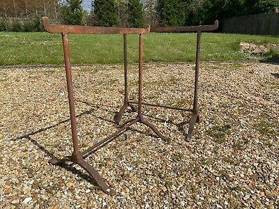 Pair Of Antique Iron Trestles
