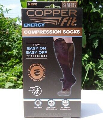 Copper Fit Energy Compression Socks S/M 1 Pair of Socks