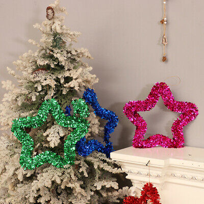 Multicolor Star Twinkle Christmas Colored Strips Star Decoration Hanging Xmas BL
