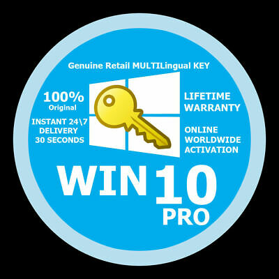 Licenza Windows 10 Professional Key 32 / 36 Bit Win 10 Pro Key Versione Completa