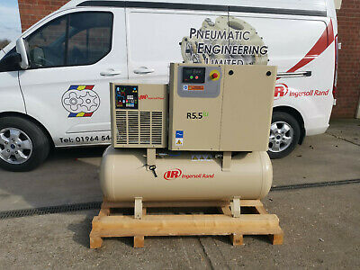 NEW INGERSOLL RAND ROTARY SCREW AIR COMPRESSOR 5.5kW 10 BAR WITH BUILT IN DRYER