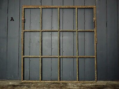 Reclaimed Antique Victorian Factory Cast Iron Window Frames  (IW36)