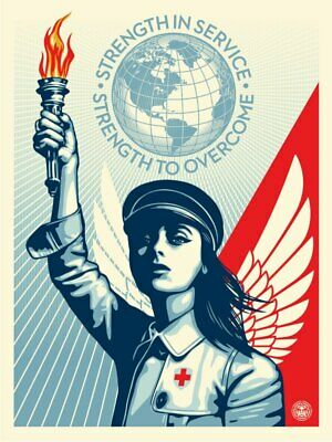 ANGEL OF HOPE AND STRENGTH OBEY/Shepard Fairey SIGNED & NUMBERED PRINT Shipped