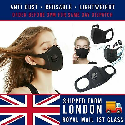 Breathable & Washable Face Mask with Valve | UK Seller + Same Day Dispatch