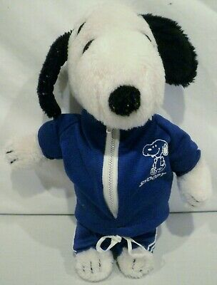 """10"""" Peanuts Snoopy Wearing Blue Jogging Outfit"""