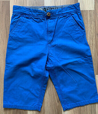 Next Boys Blue long knee length shorts size 13 yrs height 158 pockets button