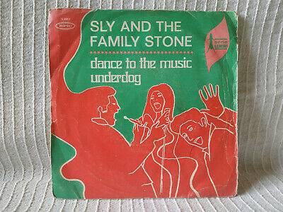 "SLY AND THE FAMILY STONE - Dance to the music / Underdog - Single 7"" Spain press"