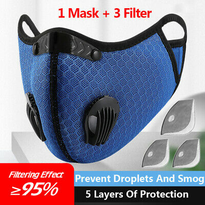 Sports Face Running Training Cycling Dust Reusable Anti-Pollution Activated 2020