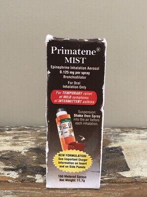 Primatene Mist inhalation Aerosol Asthma Relief 160 Metered Sprays 12/2021