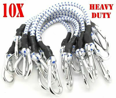 """10PC 32"""" Heavy Duty Bungee Cords 32 inch Thick Tie Downs w/ Hooks CAL HAWK BRAND"""