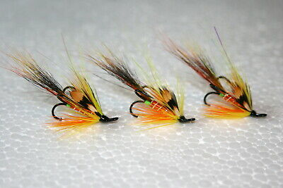 10 Guideline Black Nickle 1x Strong Narrow Salmon Tube Fly Treble Hook Size 6