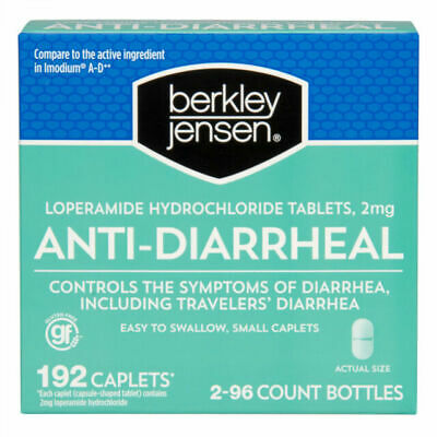 Berkley Jensen Anti-Diarrheal Caplets - 192 Count (5 Boxes)
