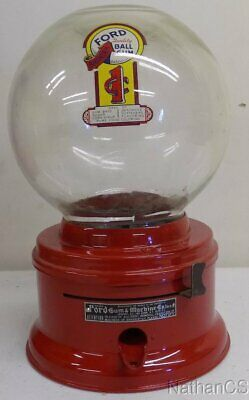 Original Ford Penny Gumball Machine red painted