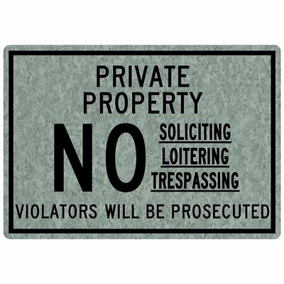 ComplianceSigns Engraved Plastic No Soliciting Loitering Engraved Sign, 10 X...