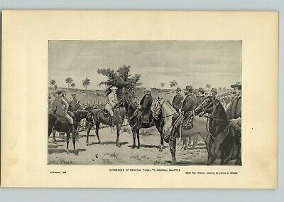 1905 Print American History United States Surrender General Toral To Shafter