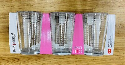 Set of 6 Crystal Glass Tumblers Wine/Drink