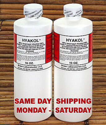 99% Isopropyl Rubbing Alcohol, Two 16 oz, Same Day Shipping Priority Mail  ⭐⭐⭐⭐⭐