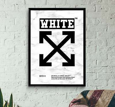 OFF WHITE POSTER  3 sizes Streetwear HYPEBEAST FASHION VIRGIL ABLOH