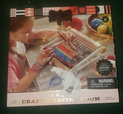 FAO Schwarz Weaving Loom Craft Kit, 8 Pieces NIB Box Damaged Contents Unharmed