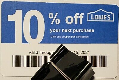Twenty (20) LOWES Coupons 10% OFF At Competitors ONLY not AtLowes Exp Mar15 2021