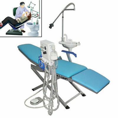 4H Dental Portable Mobile Chair with LED Cold Light Folding Unit Chair Headrest