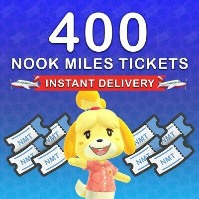400 Nook Mile Tickets!🎫 -Animal Crossing: NH - INSTANT DELIVERY