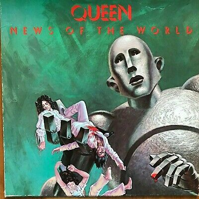 Queen - News of the World - vinyl record LP 6E-112 close to NM w/ custom inner