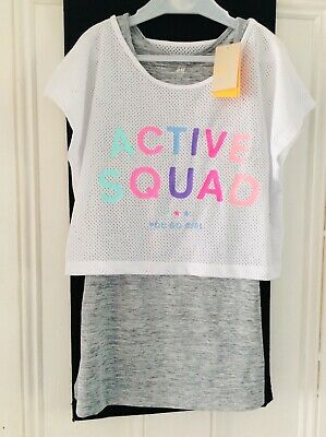 Brand new girls Activewear 2-piece tops set, age 10-12 years