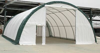 30x65x15 Canvas Fabric Storage Building Shop Shelter Metal Frame Garage RV Boat